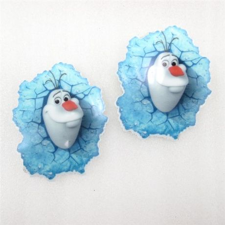 5 x 40MM NEW OLAF FROZEN LASER CUT FLAT BACK RESIN HAIR BOWS HEADBANDS CRAFTS CARD MAKING